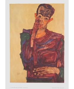 Egon Schiele, Selbstbildnis - 1910