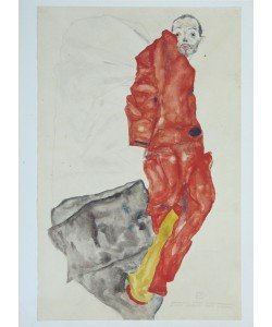Egon Schiele, Selbstbildnis als Gefangener - 1912