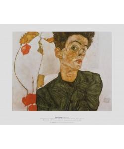 Egon Schiele, Selbstbildnis mit Judenkirschen, 1912