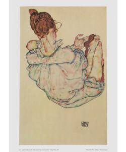 Egon Schiele, Sitzende Frau von oben gesehen - 1917