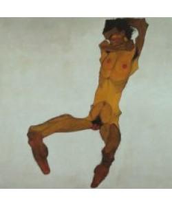 Egon Schiele, Sitzender Männerakt (Selbstdarstellung), 1910