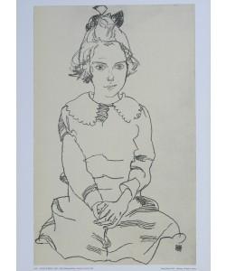 Egon Schiele, Sitzendes Mädchen (Maria Steiner) - 1918