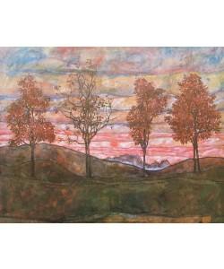 Egon Schiele, Vier Bäume (1917)