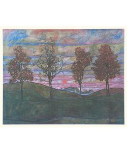 Egon Schiele, Vier Bäume - 1917