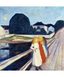 Edvard Munch, Vier Mädchen auf der Brücke