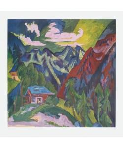 Ernst-Ludwig Kirchner, Die Klosterser Berge (Schweiz)