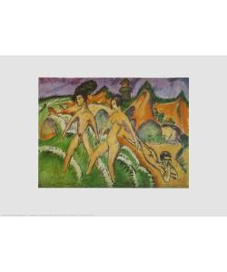 Ernst-Ludwig Kirchner, Ins Meer Schreitende, 1912