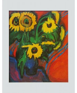 Ernst-Ludwig Kirchner, Sonnenblumen, 1909