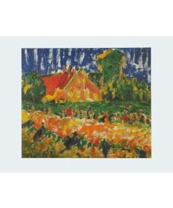 Erich Heckel, Haus im Herbst - 1908