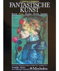 Ernst Fuchs, Geharnischter mit Blumen