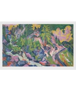Ernst-Ludwig Kirchner, Gebirgslandschaft mit Arven