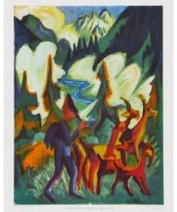 Ernst-Ludwig Kirchner, Hirte mit Ziegen am Morgen