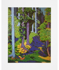 Ernst-Ludwig Kirchner, Waldinneres - 1937