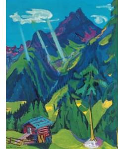 Ernst-Ludwig Kirchner, Bündner Landschaft mit Sonnenstr