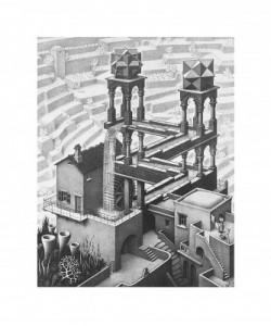 M. C. Escher, Wasserfall