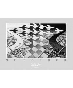 M. C. Escher, Tag und Nacht