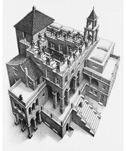 M. C. Escher, Treppauf und Treppab
