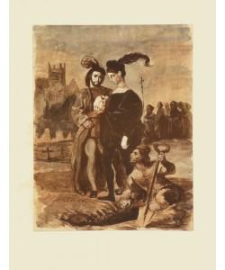 Eugene Delacroix, Hamlet und Horatio