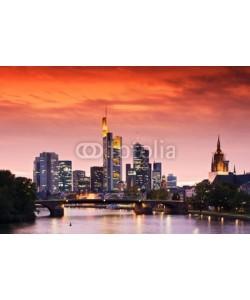 europhotos, Frankfurt's Skyline after Sunset