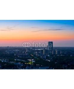 europhotos, Panorama of Bonn after sunset