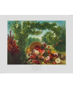 Eugene Delacroix, Blumenkorb in einem Park