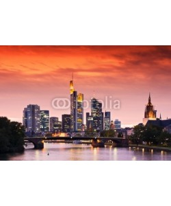 europhotos, Frankfurt's Skyline after Sunset