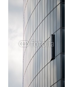 europhotos, Modern skyscraper with one window opened
