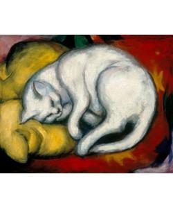 Franz Marc, Cat on a yellow pillow