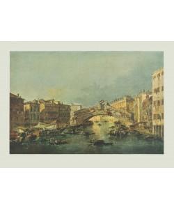 Francesco Guardi, Canale Grande mit Rialtobrücke, Venedig