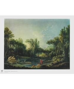 Francois Boucher, Landschaft mit Teich