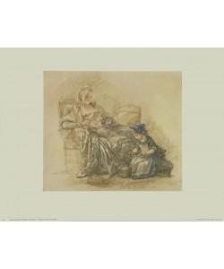 Francois Guérin, Lesende Dame mit Kind