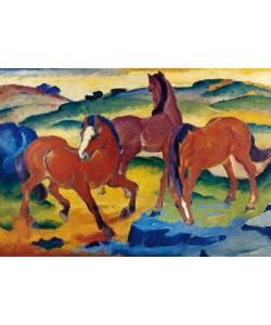 Franz Marc, Die roten Pferde