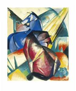 Franz Marc, Two Horses Red And Blue