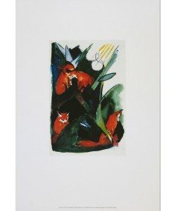 Franz Marc, Vier Füchse - Postkarte an W.Kandinsky, 1913