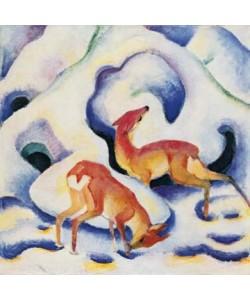 Franz Marc, Rehe im Schnee