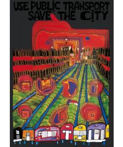 Friedensreich Hundertwasser, SAVE THE CITY (Originalposter)