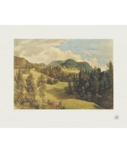 Friedrich Gauermann, Landschaft bei Miesenbach (Kupfertiefdruck)