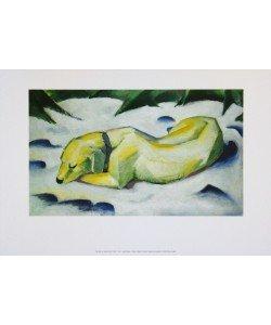 Franz Marc, Der weiße Hund, 1910/11