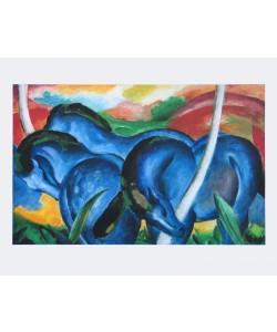 Franz Marc, Die großen blauen Pferde, 1911