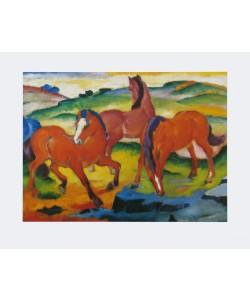 Franz Marc, Die großen roten Pferde, 1911