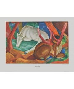 Franz Marc, Hirsche im Wald
