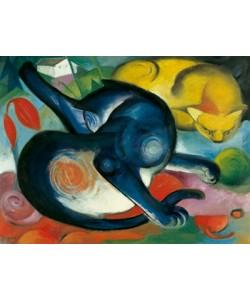Franz Marc, Zwei Katzen, blau und gelb
