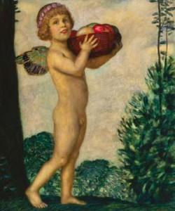 Franz von Stuck, Erote mit Früchtekorb