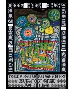 Friedensreich Hundertwasser, ARCHE NOAH (Originalposter)
