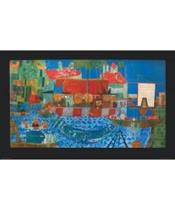 Friedensreich Hundertwasser, DER WUNDERBARE FISCHFANG (Granolitho)