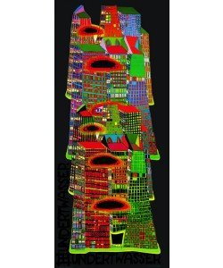 Friedensreich Hundertwasser, GOOD MORNING CITY (Skyscrapers) (Originalposter)