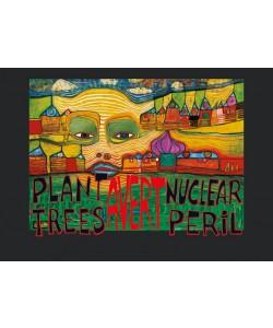 Friedensreich Hundertwasser, PLANT TREES - AVERT NUCLEAR PERIL (Original Manifesto-Art-Prints)