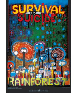 Friedensreich Hundertwasser, RAINFOREST (Originalposter)