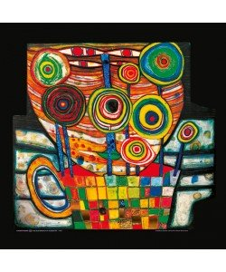 Friedensreich Hundertwasser, THE BLOB GROWS IN A FLOWER POT