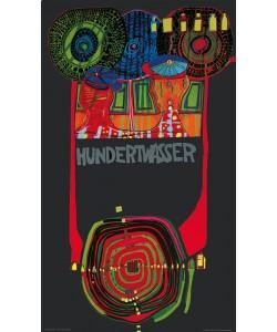 Friedensreich Hundertwasser, WELTTOURNEE (Originalposter)
